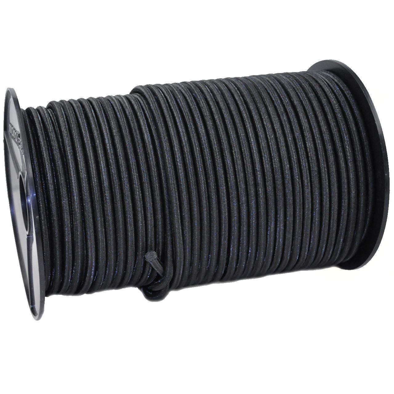 SCHNURHAUS - Monoflex Expanderseil mit Polyethylen (PE) Mantel schwarz