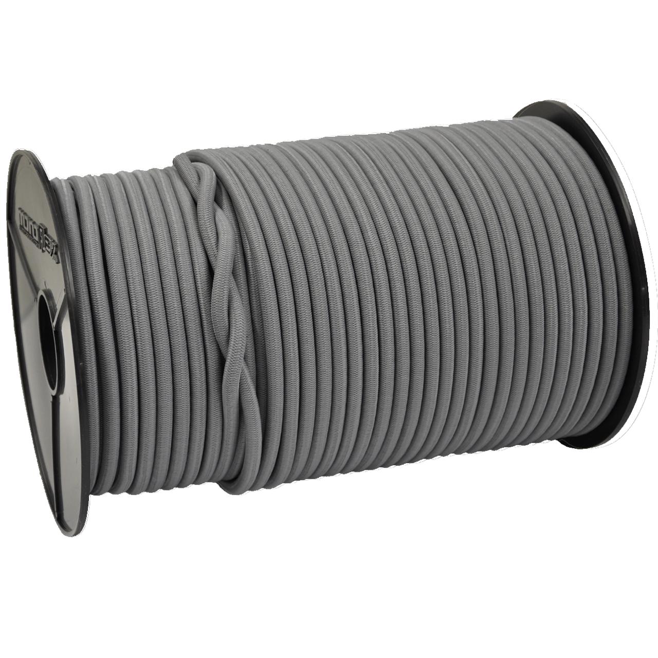SCHNURHAUS - Monoflex Expanderseil mit Polyethylen (PE) Mantel grau